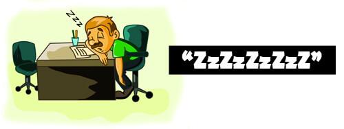 Man sover på jobbet